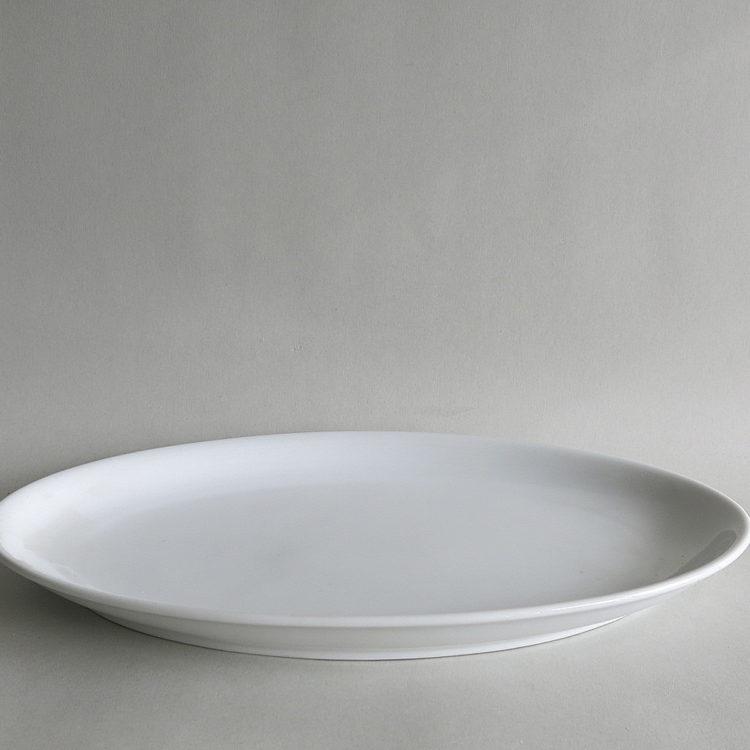 Porzellan Platte Ida weiß modern