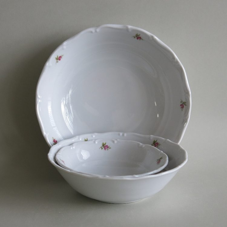 Runde Porzellan Schüsseln Ofelie Röschen