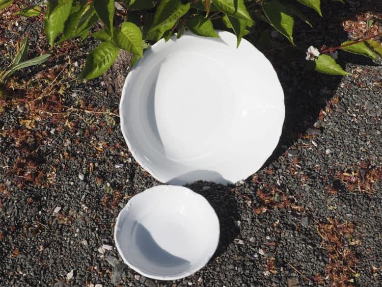weiße Porzellan Schüsseln Ofelie