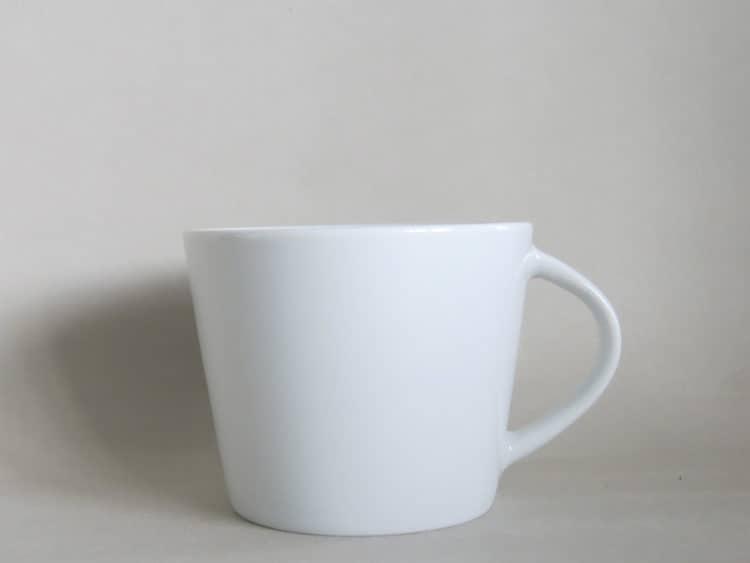 Konische Porzellan Tasse Clio weiß 150 ml