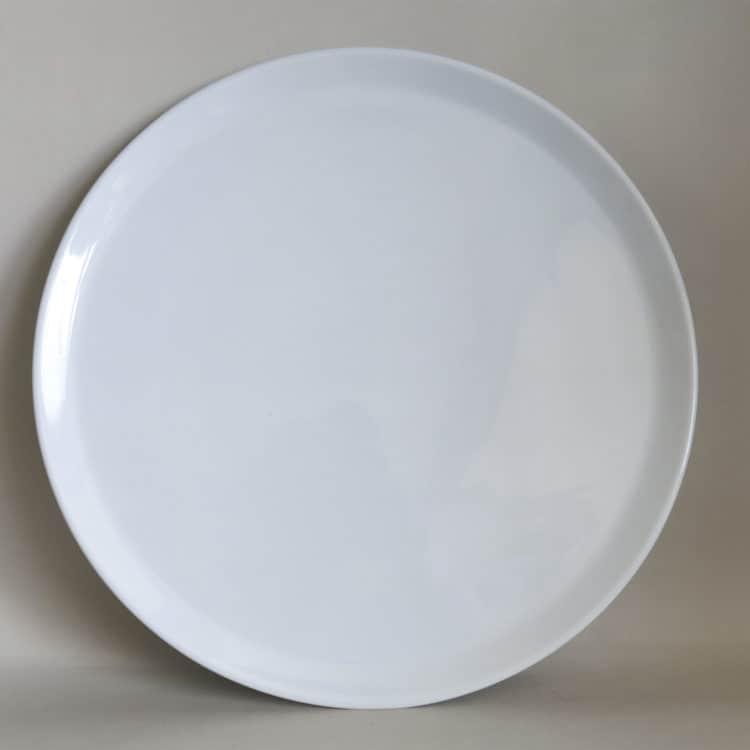 Glatte Porzellan Tortenplatte oder Pizzateller 32 cm
