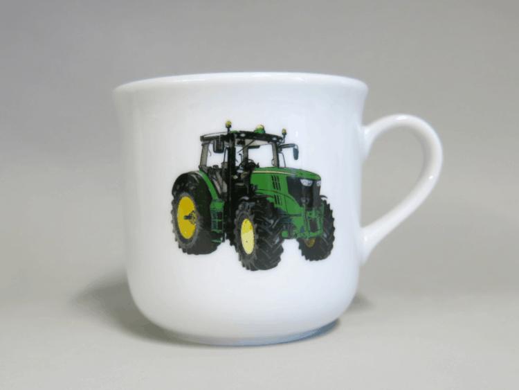 Kinderporzellan kleiner Becher Kid 230 ml grüner Traktor