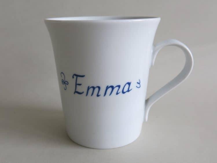 Porzellanbecher Emma mit großem Henkel 350 ml