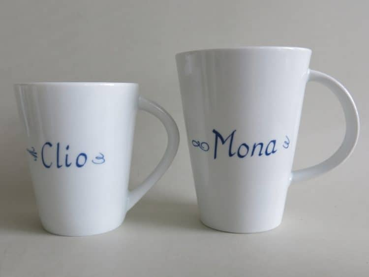 Bechervergleich Clio 260 ml und Mona 400 ml