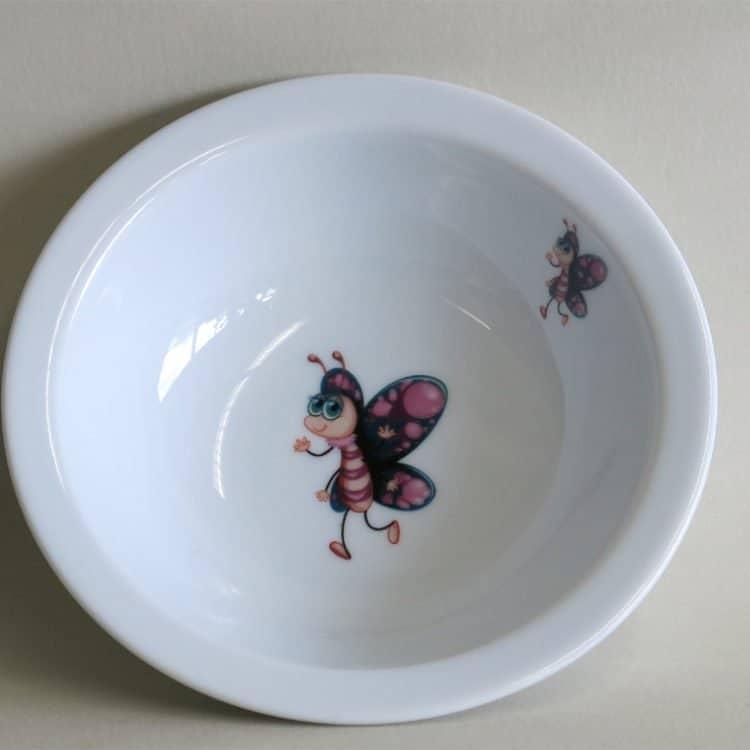Kinderset Porzellan Müslischüssel 16 cm Smilla Schmetterling