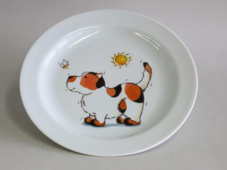 Teller 19 cm mit Hund, Biene und Sonne
