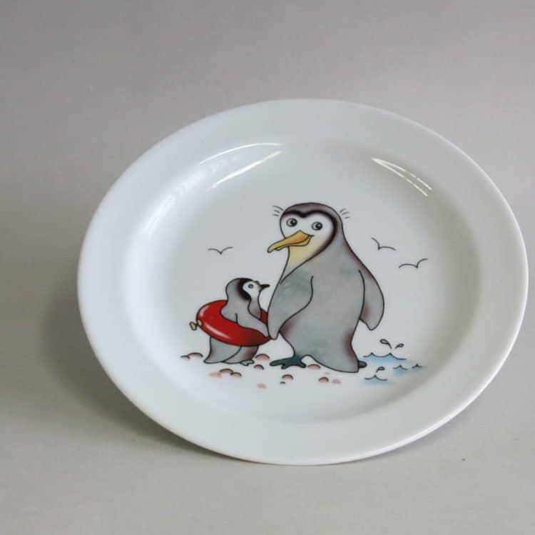 Kindergeschirr Porzellan Teller 19 cm Pinguine