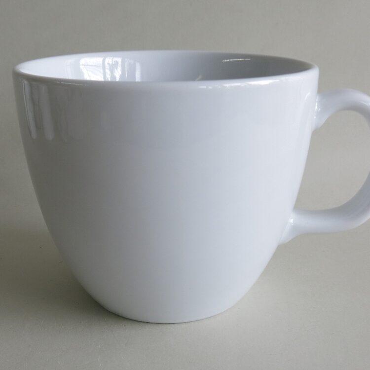 XXL weißer Porzellan Becher Pot 1 Liter