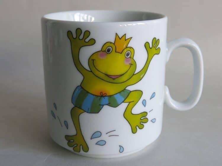 Frühstücksgeschirr Porzellan gerader Becher 260ml mit Froschkönig