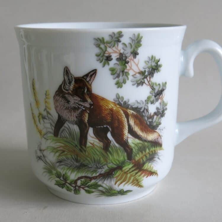 Frühstücksporzellan Becher Sina groß mit Fuchs