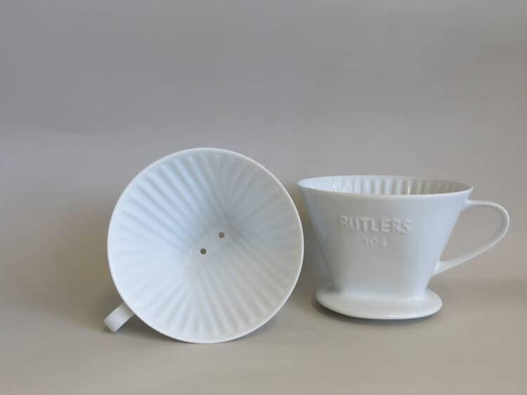 Porzellanfilter Buttler 104 mit 2 Löchern