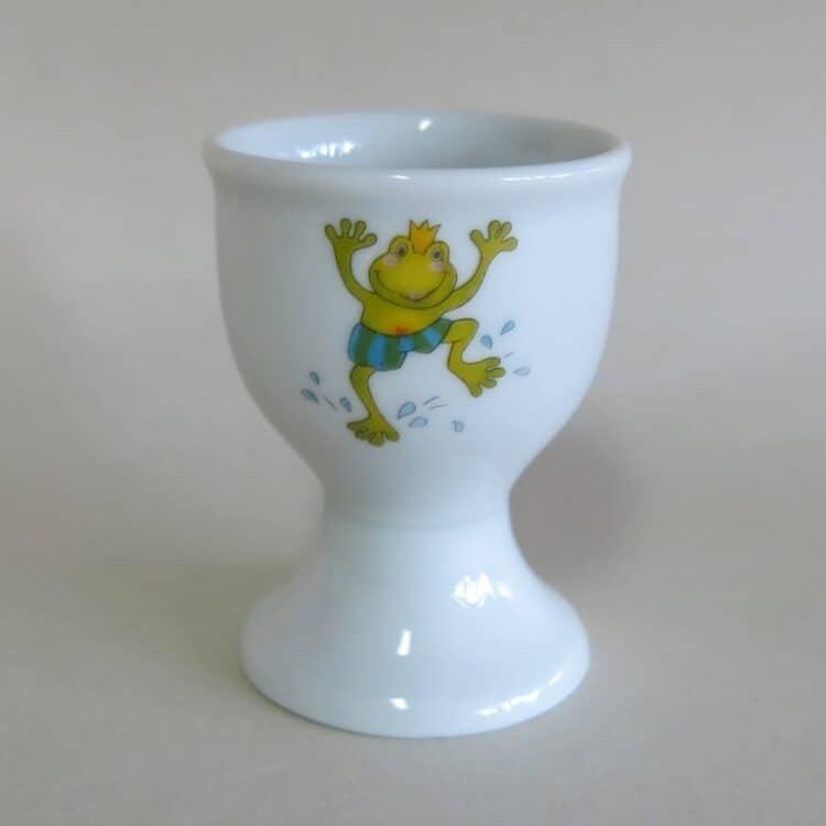 Frühstücksgeschirr Porzellan hoher Eierbecher mit Froschkönig
