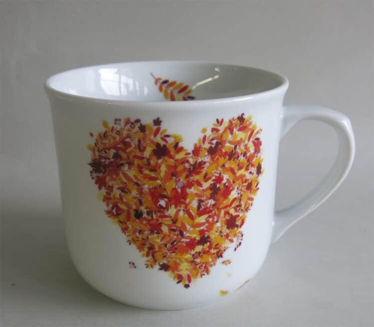 Frühstücksgeschirr feuerfester Porzellan Becher Hotpot 650 ml, Herbstherz