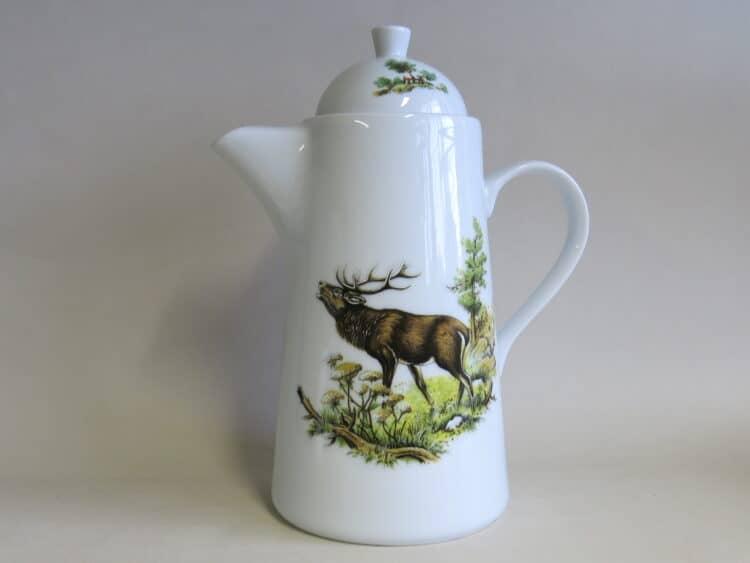Kaffeekanne Opty röhrender Hirsch