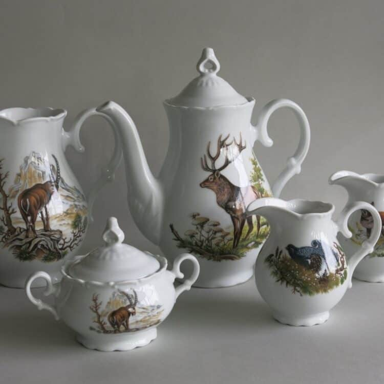 Jagdmotive auf Porzellan Ofelie