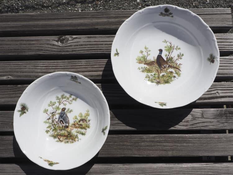 Porzellan Schüsseln Ofelie groß mit Jagdmotiven
