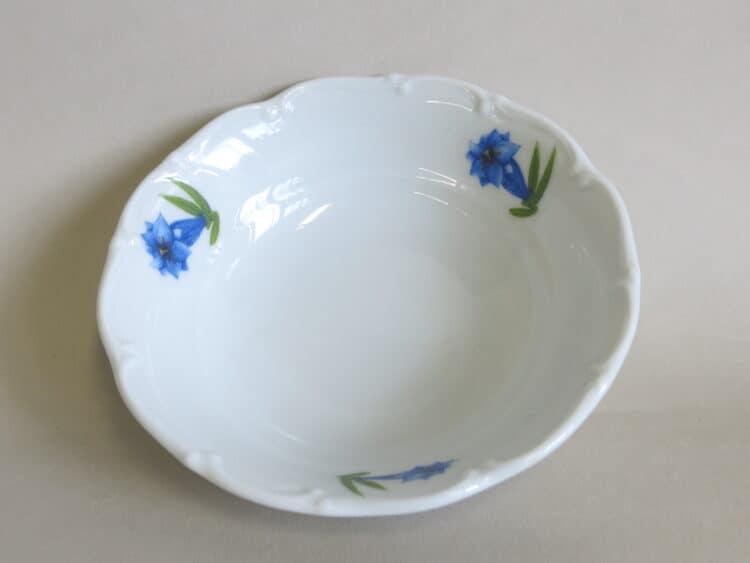 Kompottschälchen oder kleine Schüssel 13 cm Ofelie mit blauem Enzian