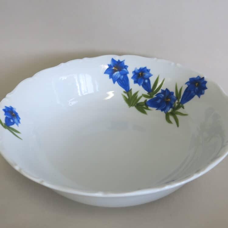 Porzellan Schüssel Ofelie mit blauem Enzian