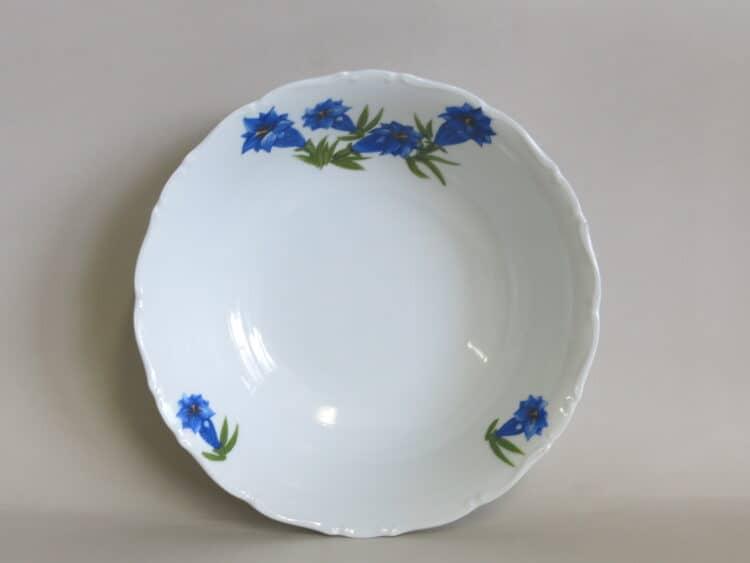 Porzellan Schüssel Ofelie mit blauem Enzian 2