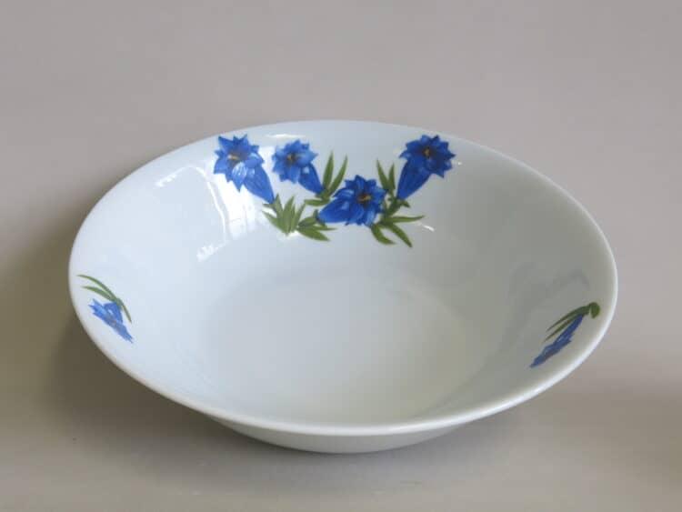 Porzellanschüssel Olympia mit blauem Enzian 2