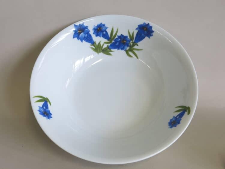 Porzellanschüssel Olympia mit blauem Enzian 1