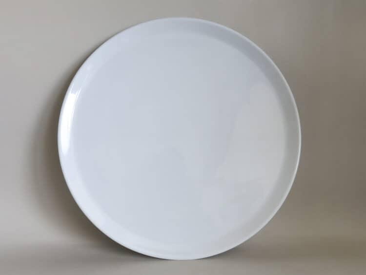 Tortenplatte oder Pizzateller 32 cm aus weißem Porzellan