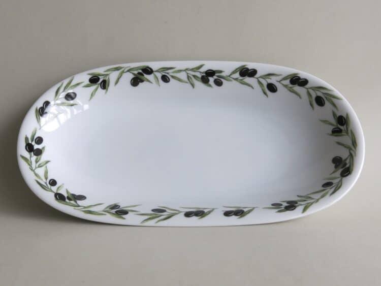Beilagenplatte Olympia mit ganzem Olivenrand