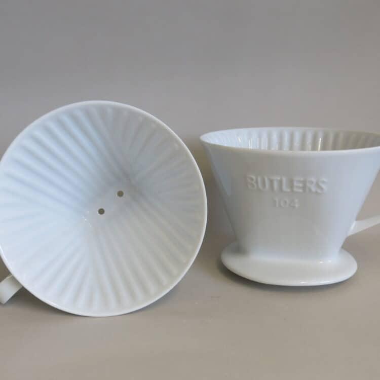 Weißer Porzellan Kaffeefilter 104 Butlers 2000