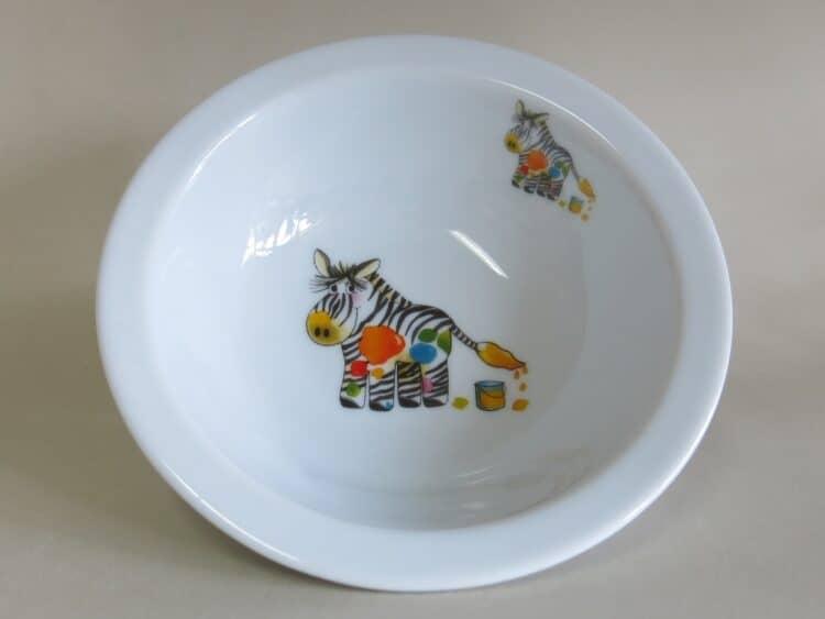 Kindergeschirr Porzellan Müslischüssel 16cm mit Zebra