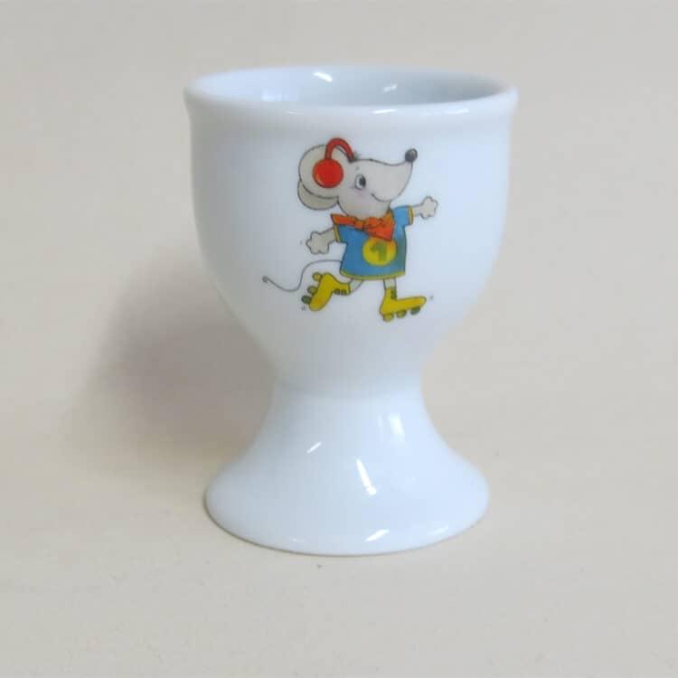 Kindergeschirr Porzellan hoher Eierbecher mit Maus