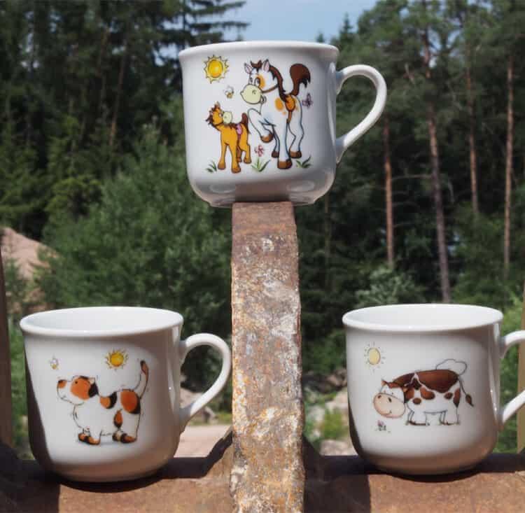 Becher und Tassen für Kitas