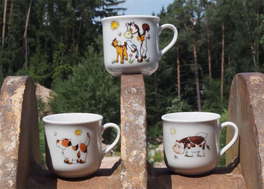 Kinderbecher Kid 230 ml mit Hund, Kuh und Pferdchen mit Ponyer Kid 230 ml mit Hund, Kuh und Pferdchen mit Pony