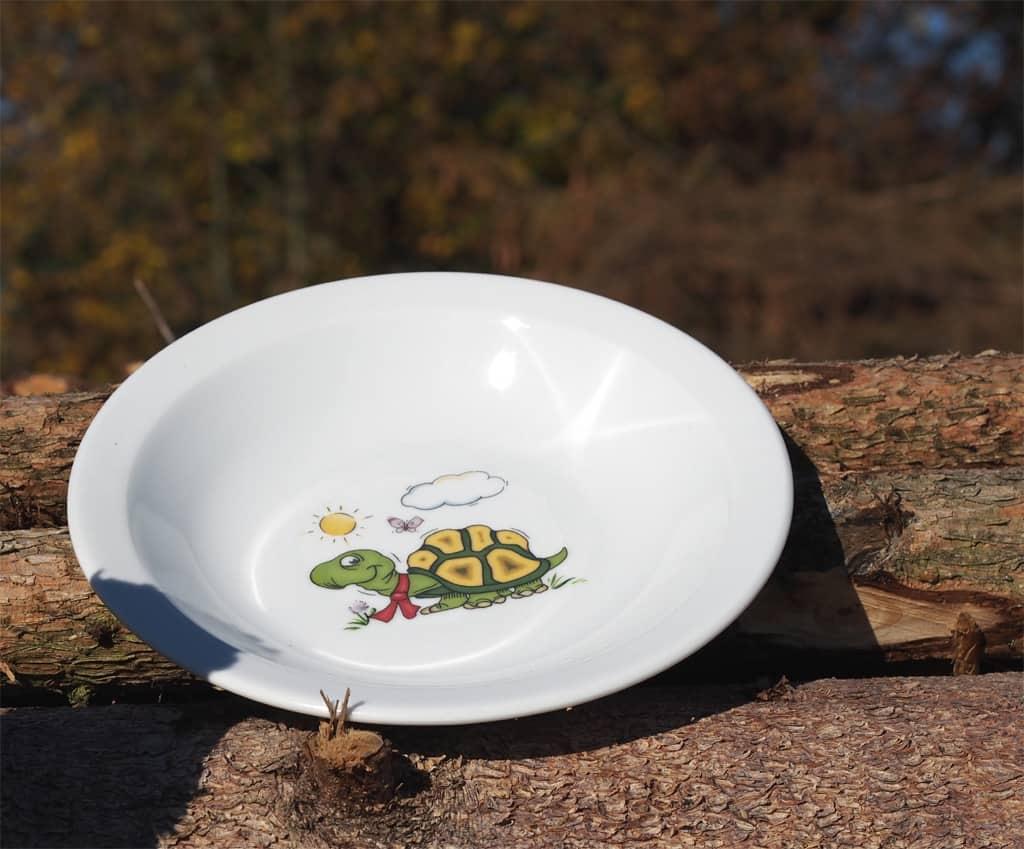 Kindergartengeschirr Teller Scandia tief Schildkröte