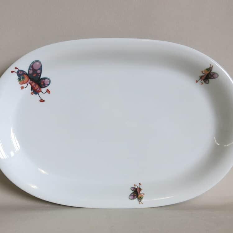 Porzellanplatte Olympia mit Smilla Schmetterling