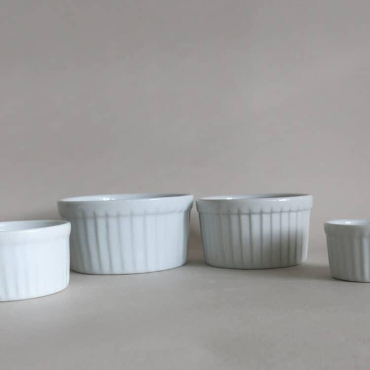 Runde Soufleeförmchen ofenfestes Porzellan 5 -9 cm