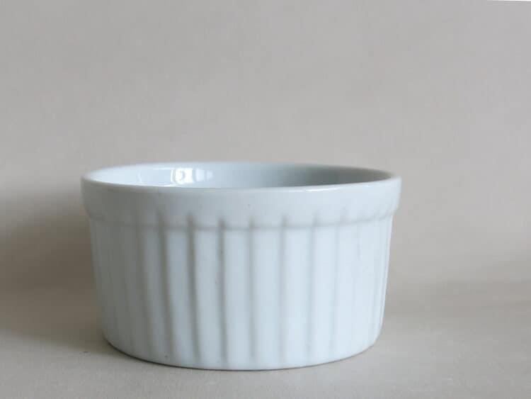 Rundes Soufleeförmchen ofenfestes Porzellan 9 cm