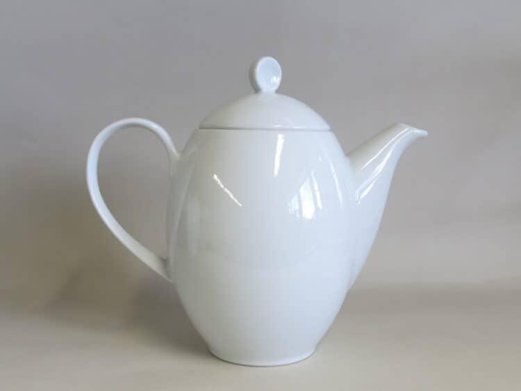 Weiße Porzellan Kaffeekanne Venus 1,3l weißes Porzellan
