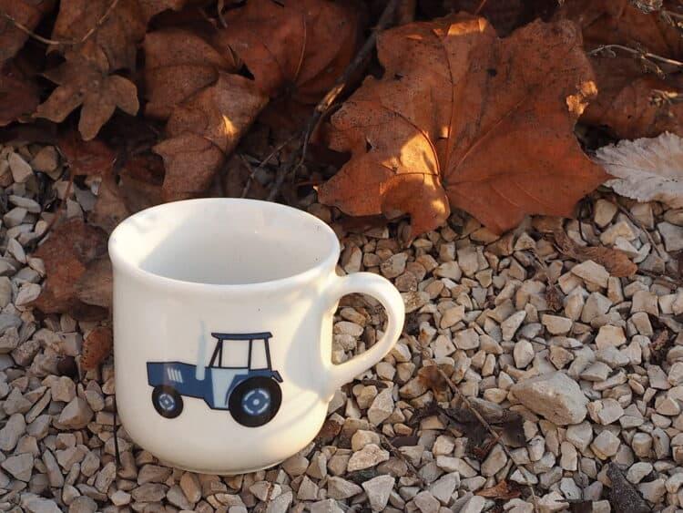 Kinderbecher Kid 230 ml blauer Traktor