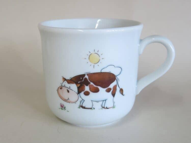 Kinderbecher Kid 230 ml mit braun weißer Kuh