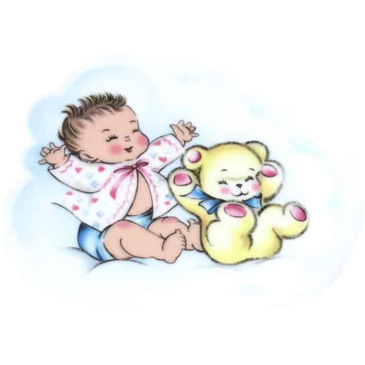 Motiv Baby in rosa Jäckchen