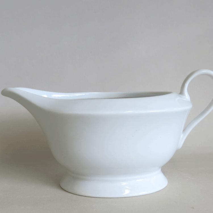 Weiße Porzellan Sauciere Romeo oval 500 ml