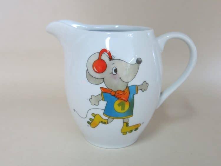Porzellankrug Maus für Kindergärten