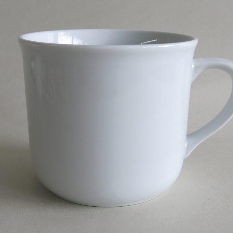 Feuerfester, weißer Porzellan Becher Hotpot 650 ml