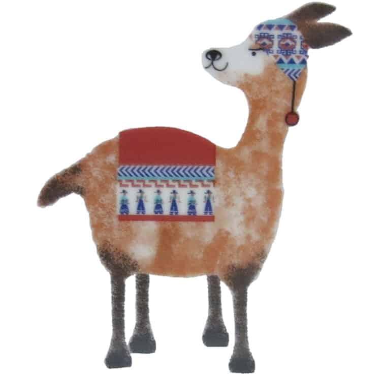 Motiv Lama Lucy in braun