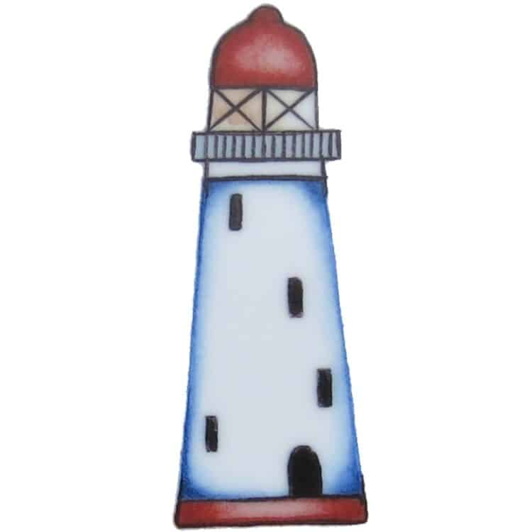 Motiv roter Leuchtturm