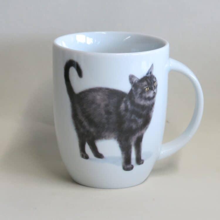 Frühstücksgeschirr Porzellan Becher Daria 260ml mit schwarzer Katze Murrli