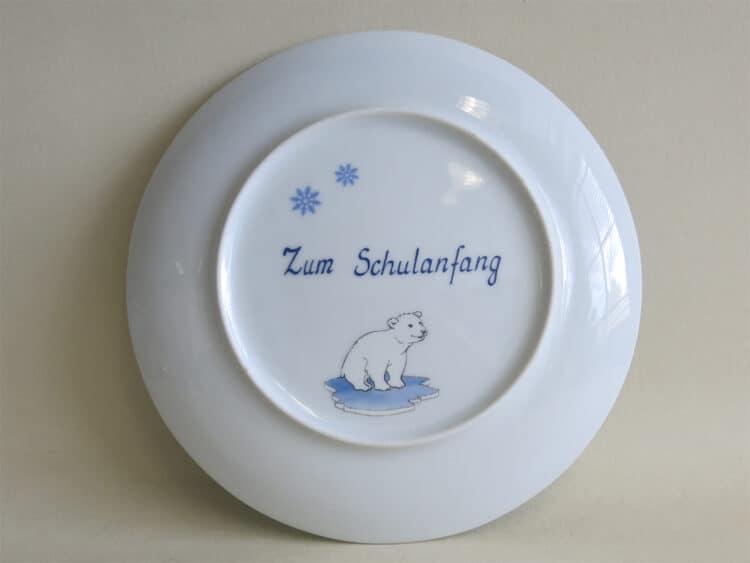 Widmung zum Schulanfang auf Porzellan