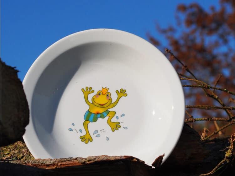 Kindergartengeschirr Teller Scandia tief Froschkönig