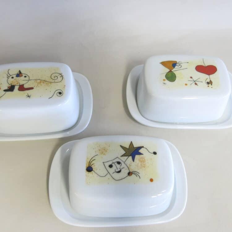 3 Butterdose klein Motiven nach Miro 2