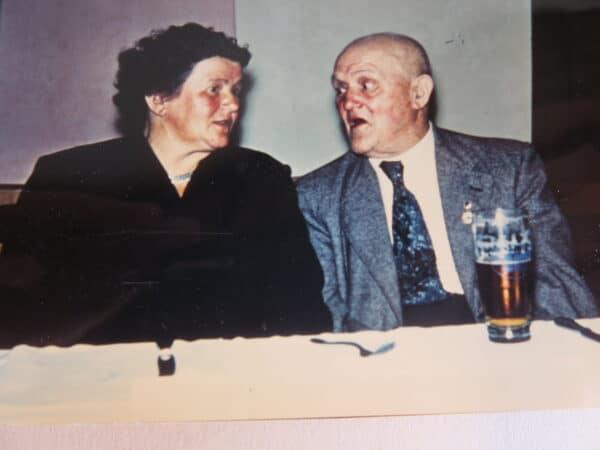 Firmengründer Fritz Petschky und Tochter Katharina um 1955